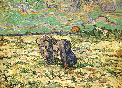 Van Gogh, « Les sarcleuses » – 1890