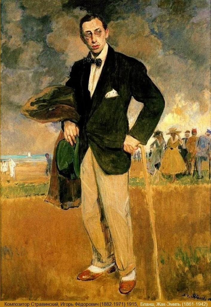 Igor Stravinsky, 1915 - Jacques Emile Blanche