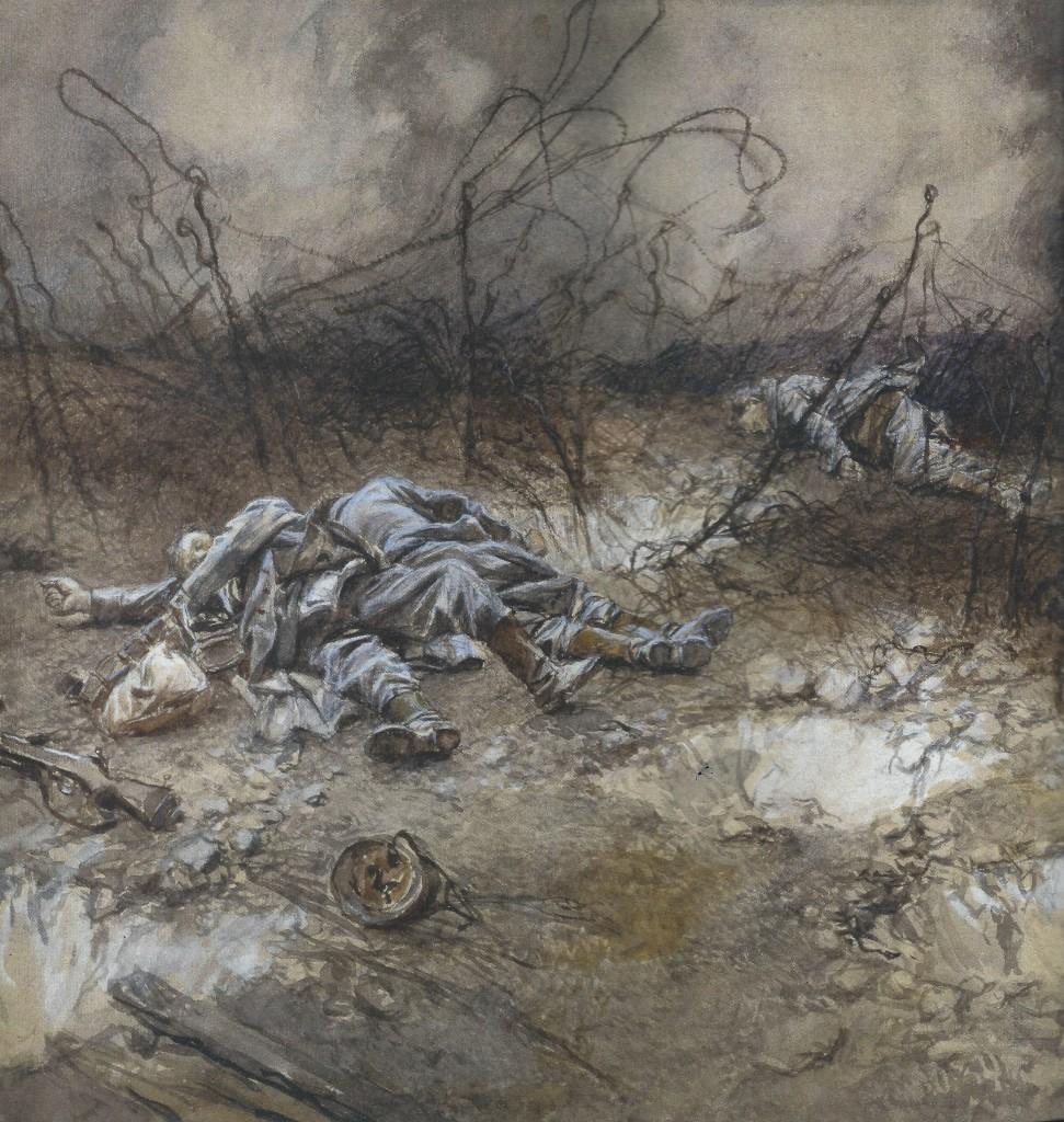 Source : Télérama Hors-série Guerre 14-18 François Flameng - 1917 - Musée de l'Armée Paris - photo Josse/Leemage